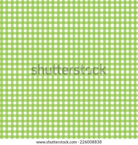 Green tablecloth. Seamless. - stock vector