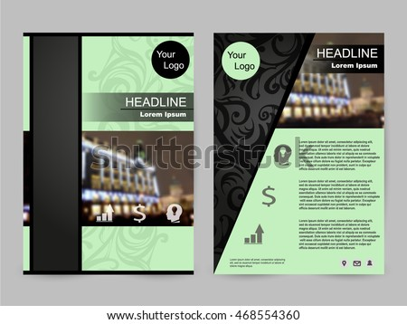 Green Tea Color Annual Report Brochure Flyer Design Template Vector Leaflet Cover Presentation Abstract Flat