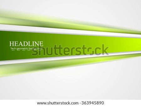 Green tech stripes blurred abstract design. Vector illustration corporate background - stock vector