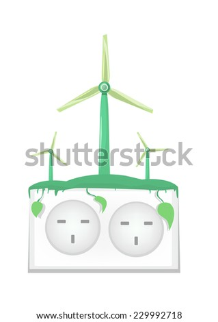 Green Technology and Sustainable Energy Concept - stock vector