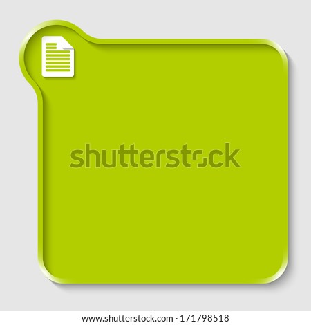 green text box for any text with note icon - stock vector