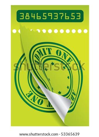 Green ticket - stock vector