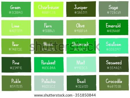 Цвет зеленый код