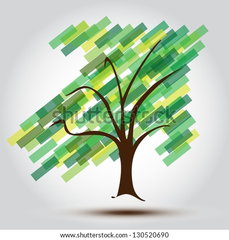 Green tree with Arrow UP of growing Business A Business Green Tree background for a Contemporary Growing Company,  perfect for stationary or Business cards