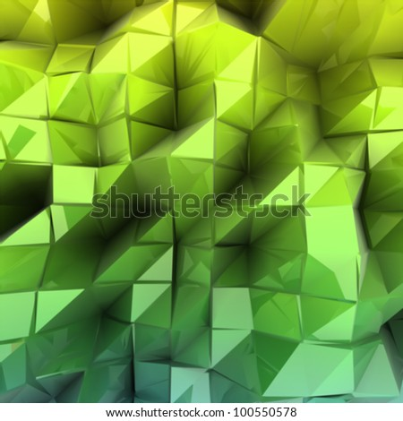 Green triangle abstract. Vector background - stock vector