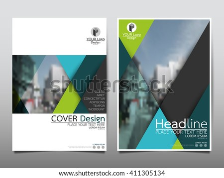 Blue Annual Report Brochure Flyer Design Stock Vector 404477731