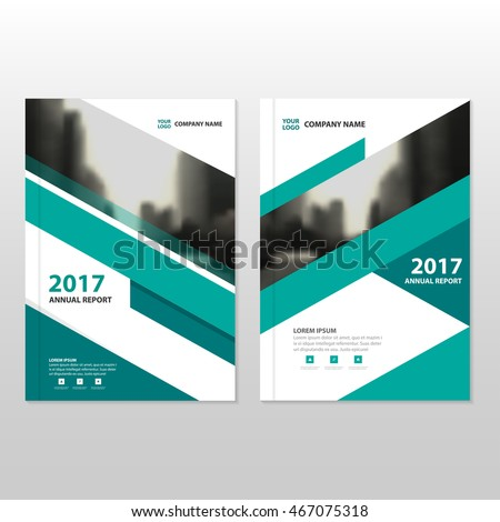 Green triangle Vector annual report Leaflet Brochure Flyer template design, book cover layout design
