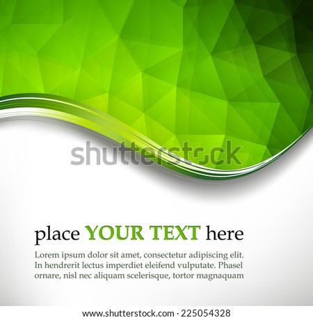 Green triangles background - stock vector