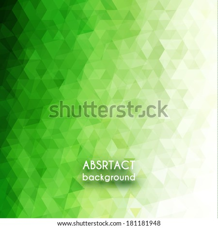 Green triangles background - eps10 - stock vector