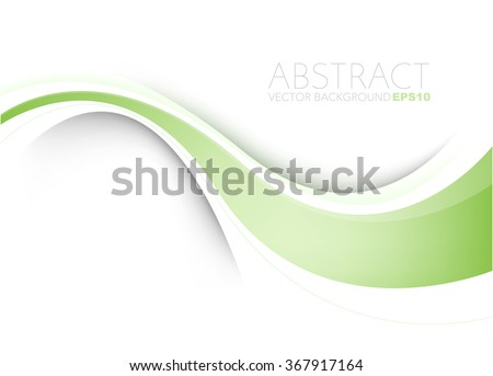 Green vector background white curve line paper overlap layer with green line and space for text and message artwork background design - stock vector