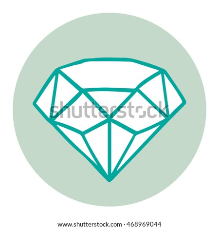 Green vector diamond, can be used as logotype