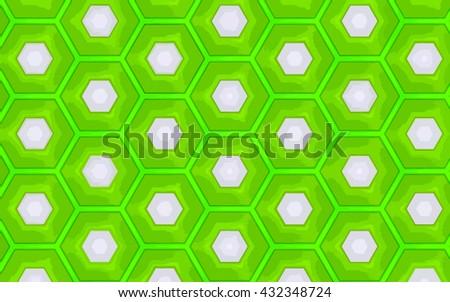 green vector honeycomb pattern - stock vector