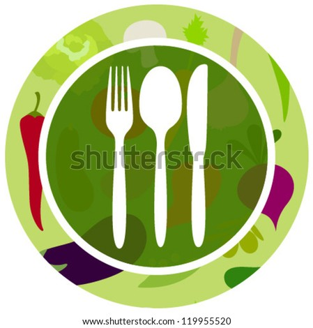green vegetables food icon - stock vector