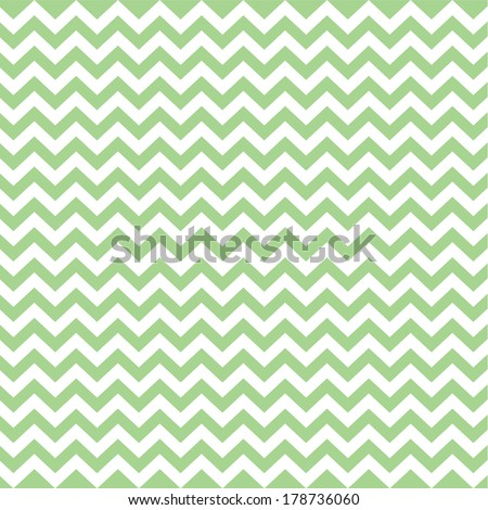 Green Vintage Card, Zigzag Chevron Design - stock vector