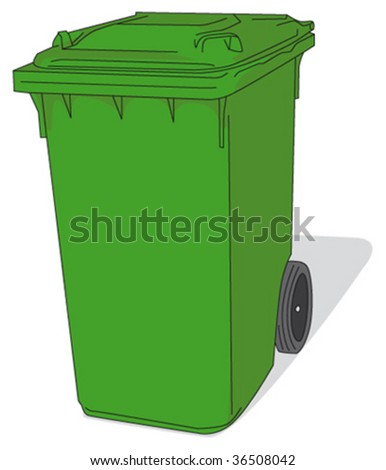 green waste container - stock vector