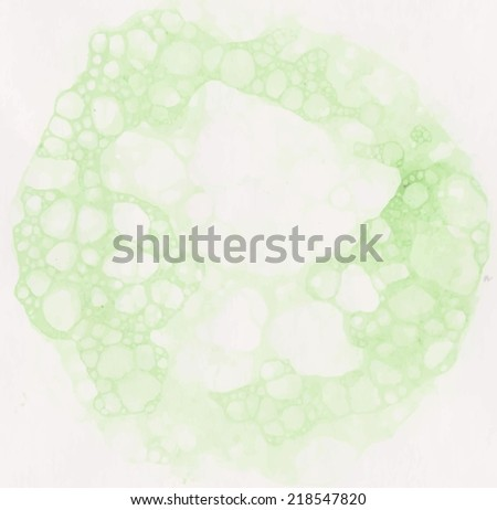 Green water and foam. vector illustration suds - stock vector