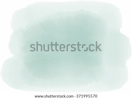 green watercolor paint abstract background, vector illustration - stock vector
