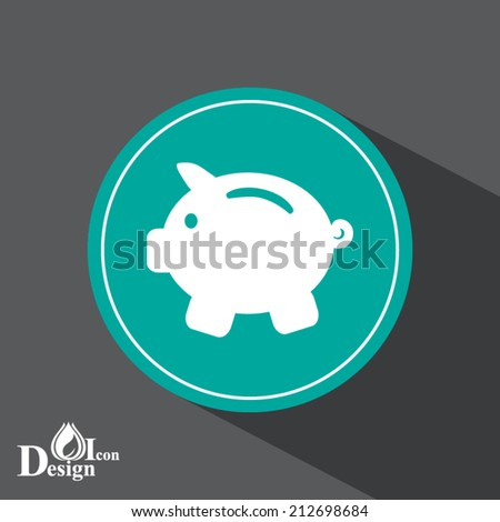 green web button with shadow - stock vector