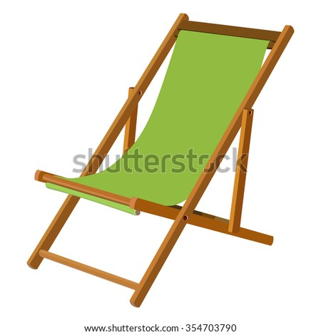 Green wooden chaise lounge on a white background  sc 1 st  Shutterstock : wood chaise lounge chair - Sectionals, Sofas & Couches