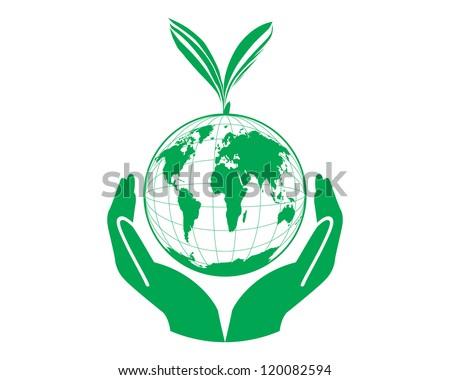 Green world concept vector - stock vector