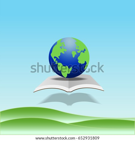 Green world map global environment happy stock vector hd royalty green world map global environment with happy family stories open book of happy family stories gumiabroncs Images