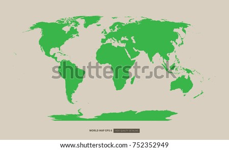 Green world map high quality detailing stock vector hd royalty free green world map high quality detailing on beige color background flat vector gumiabroncs Images