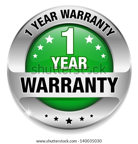 Green 1 year warranty button