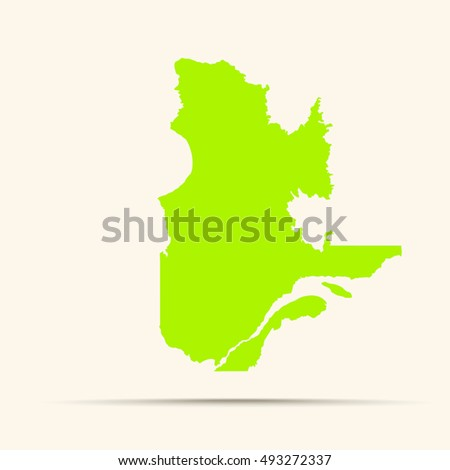 Green-yellow Quebec Map Illustration