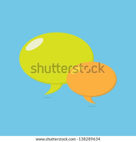 Greenand Orange Speech Bubbles