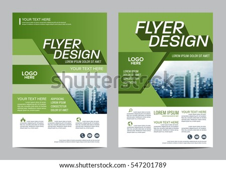 Greenery Brochure Layout Design Template Annual Stock Vector - Brochure layout template