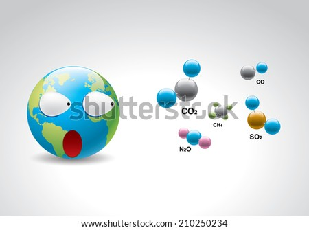 Greenhouse gases - stock vector