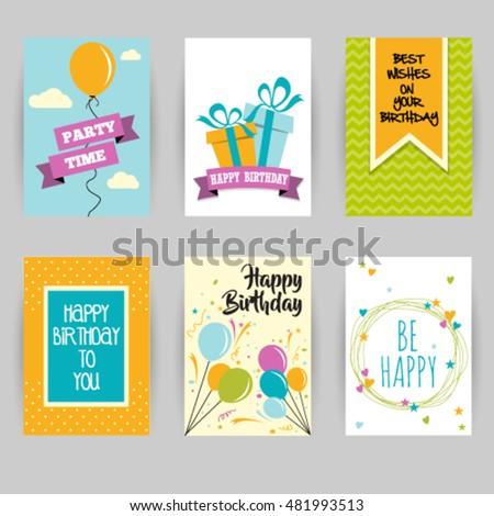 Greeting card banner birthday invitation social stock vector greeting card banner birthday invitation social media card confetti heart star stopboris Images