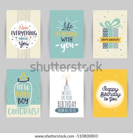Greeting card birthday childbirth invitation card stock vector 2018 greeting card birthday childbirth invitation card baby confetti heart star stopboris Images