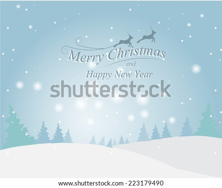 Greeting card, Christmas and new year card ,vector and illustration can be use for wallpaper, background, backdrop - stock vector