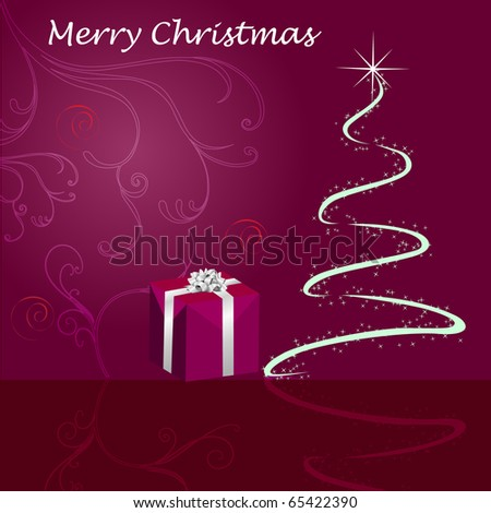 Greeting card for christmas - stock vector