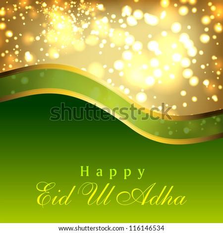 Greeting card for Eid Ul Adha festival. EPS 10. - stock vector