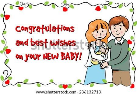 Greeting card new born baby stock vector hd royalty free 236132713 greeting card for new born baby m4hsunfo
