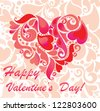 Greeting card for Valentine's Day - stock photo