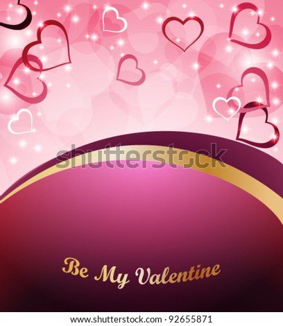 Greeting card for Valentine's Day - stock vector