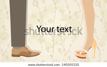 Greeting card for wedding - stock vector