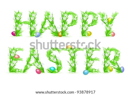 Greeting Card. Happy Easter. Illustration on white background - stock vector