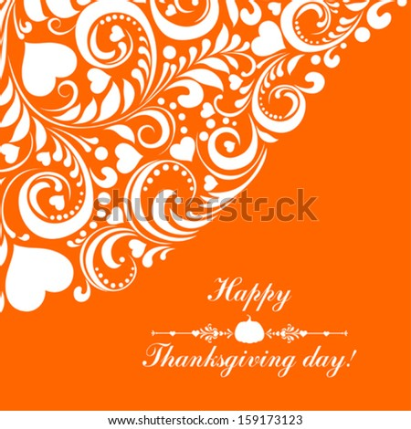 Greeting Card. Happy thanksgiving day card. Vector Illustration