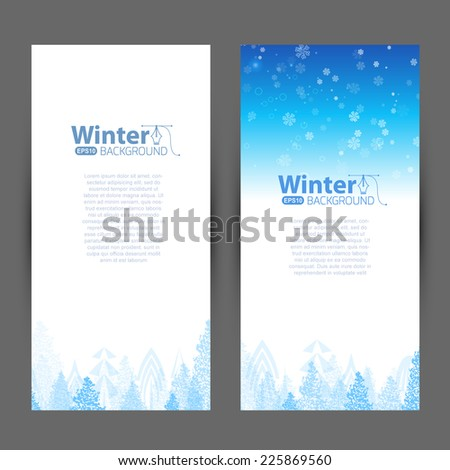 Greeting card invitation with Christmas tree - stock vector
