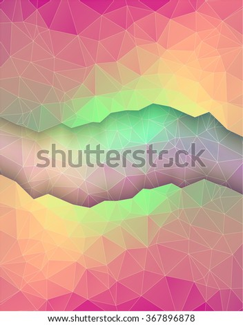 Greeting card made in polygonal style - stock vector