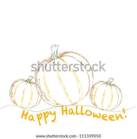 Greeting card on a Halloween - stock vector