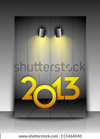 Greeting card or gift card for 2013 Happy New Year celebration. EPS 10. - stock vector