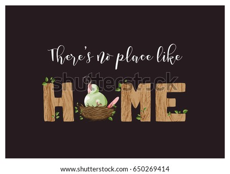 House warming stock images royalty free images vectors greeting card or housewarming party invitation with lettering home and a cute plump bird stopboris Choice Image