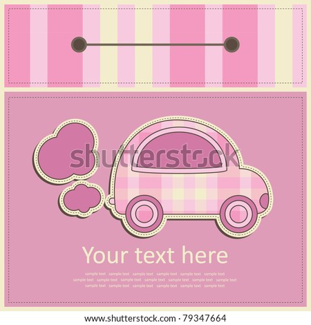 greeting card. vector illustration - stock vector