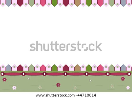Greeting Card - vector illustration, EPS AI8, all elements layered and grouped. Isolated on white for easy editing. - stock vector