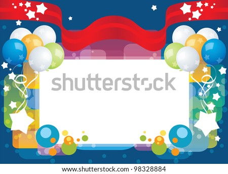 greeting card, vector template background - stock vector